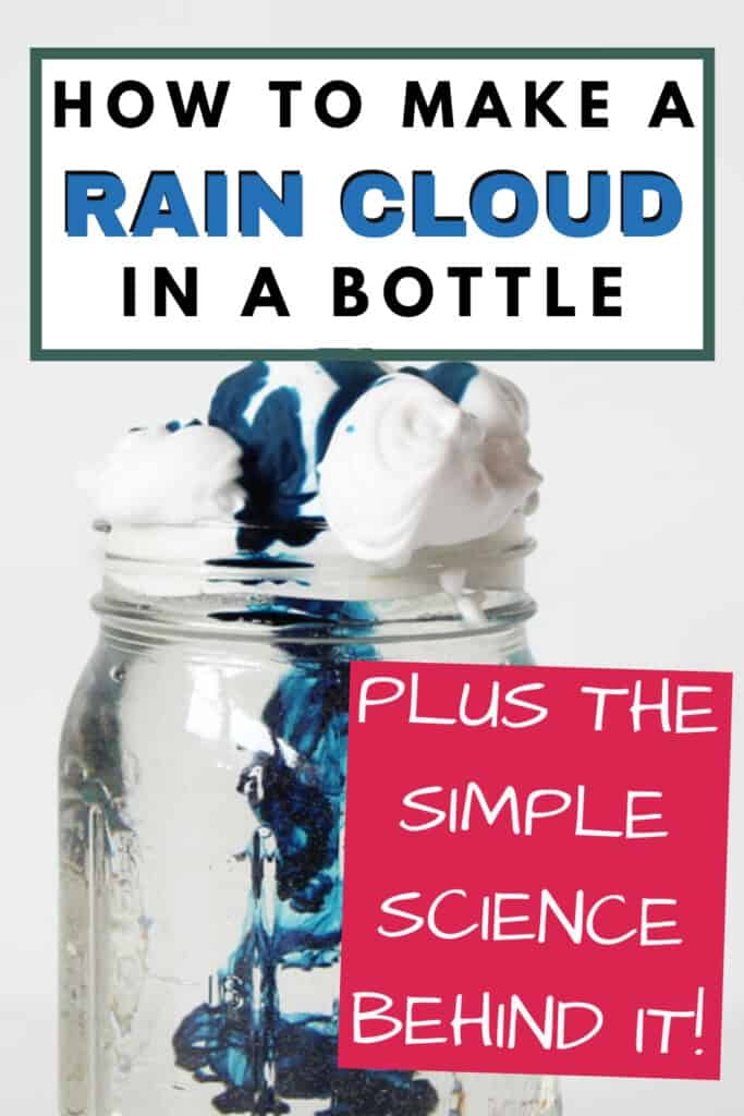 how to make a rain cloud in a bottle