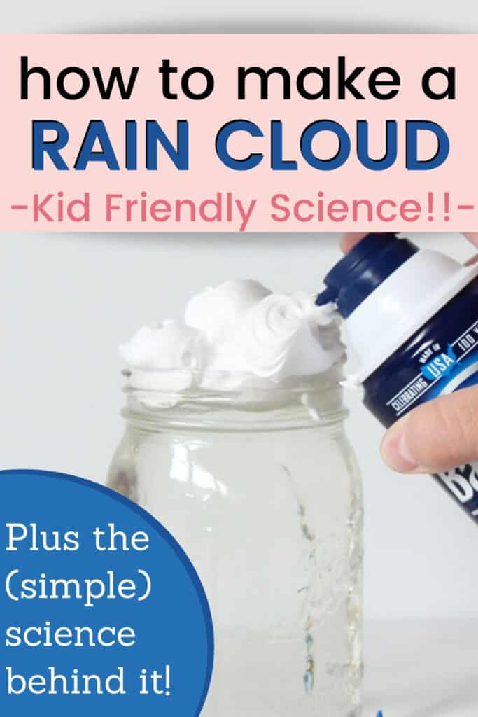 how to make a rain cloud in a jar - kid-friendly science