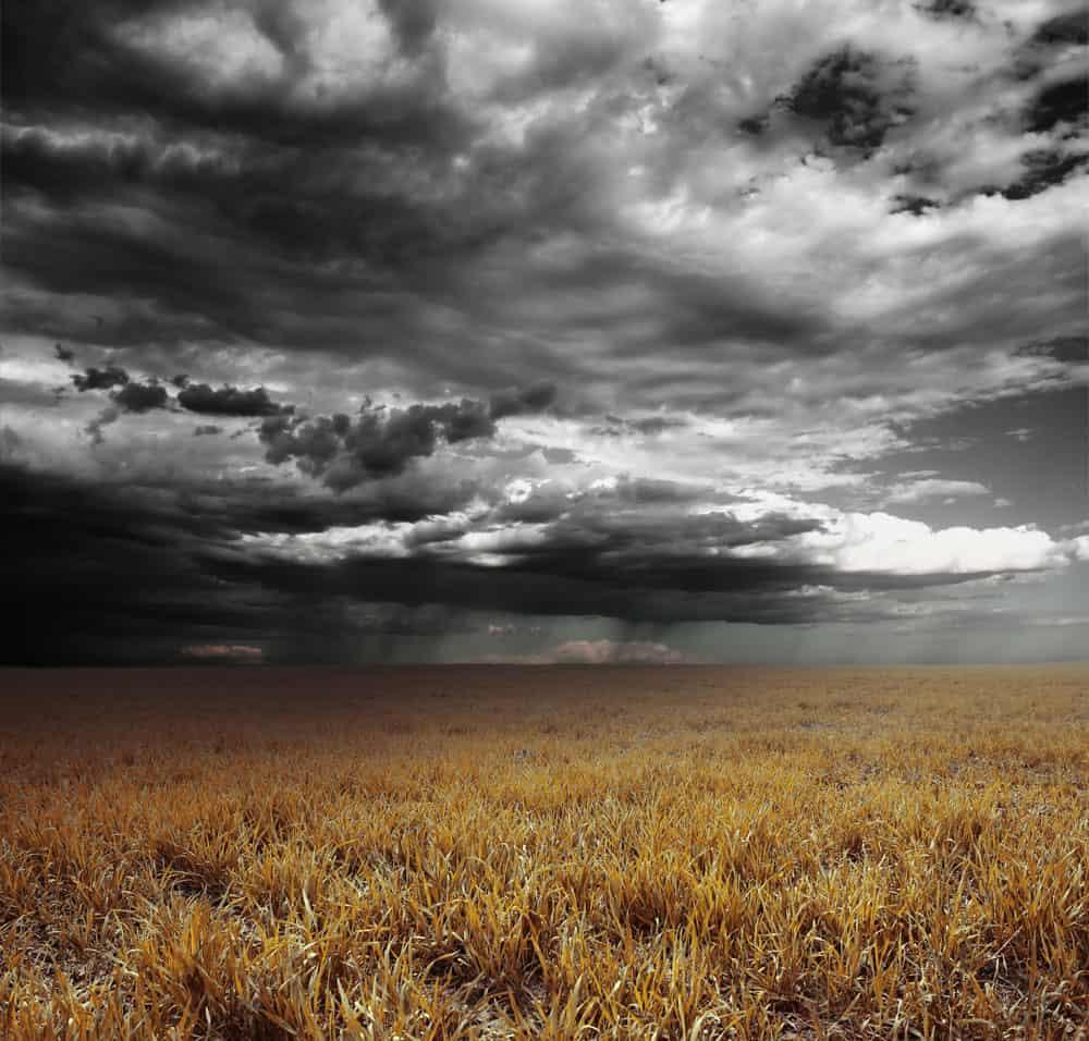 dark rain clouds