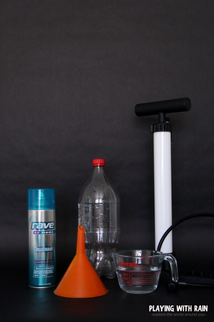 supplies needed to make a cloud in a bottle with a hairspray