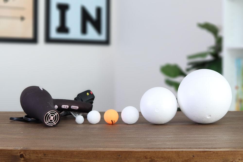 Use Styrofoam balls to demonstrate hailstones