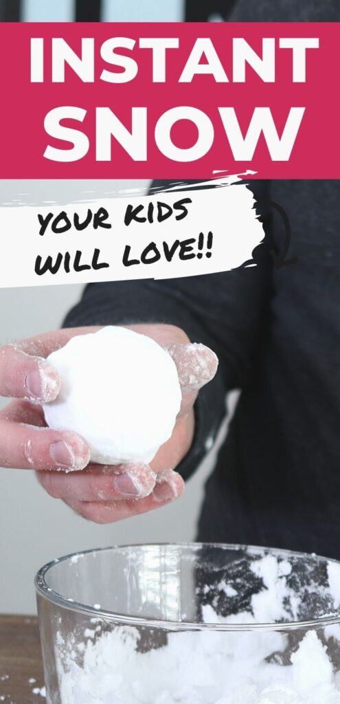 Make instant snow kids will love