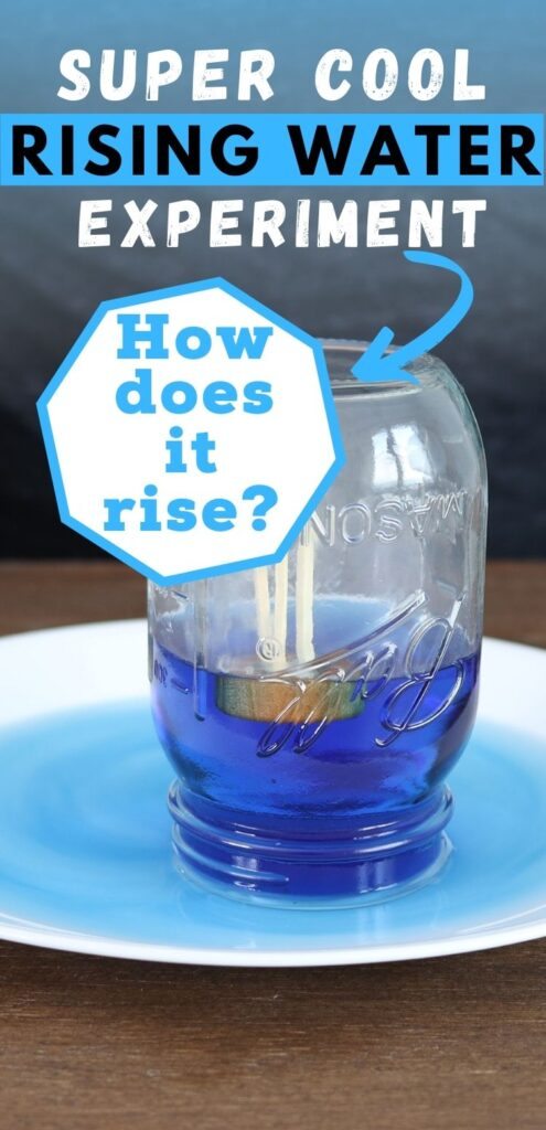 Rising water in a jar experiment