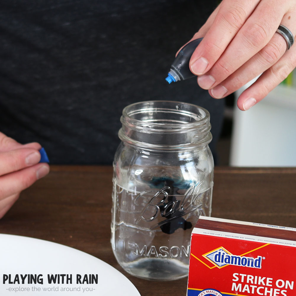 Add food coloring to see the water better