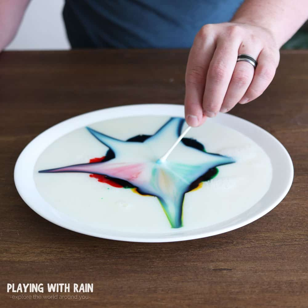 Milk and soap react with a colorful twist