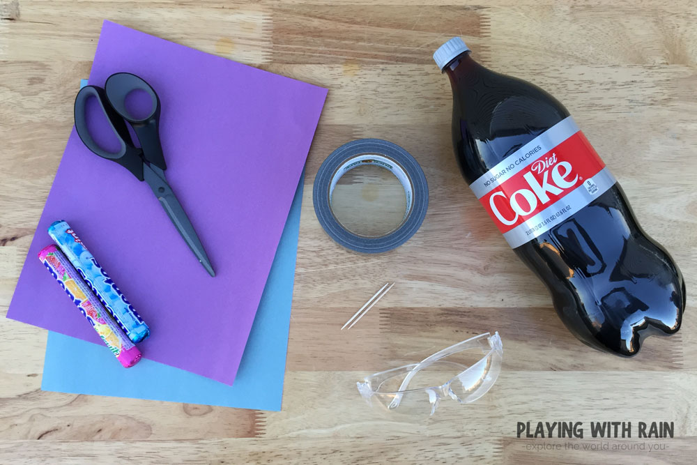 Supplies needed for Coke and Mentos experiment