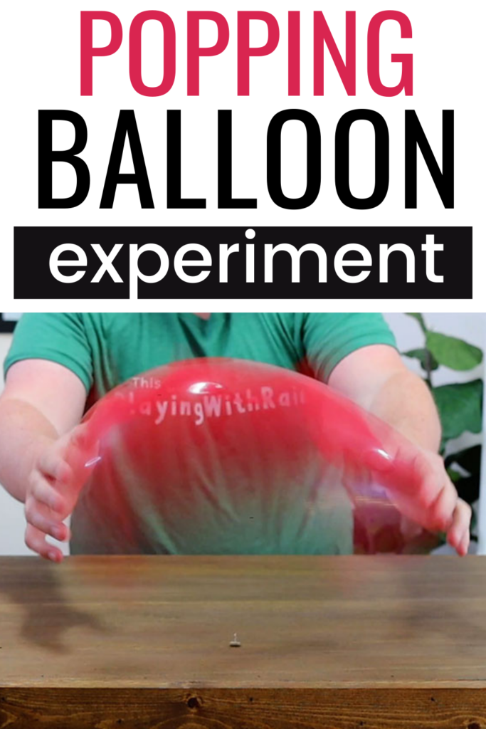 Balloon and pin science experiment