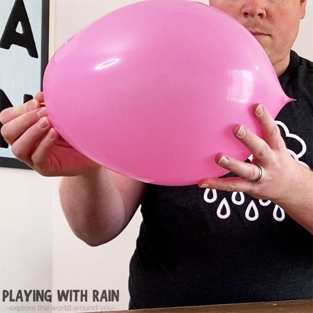 Unpoppable balloon experiment