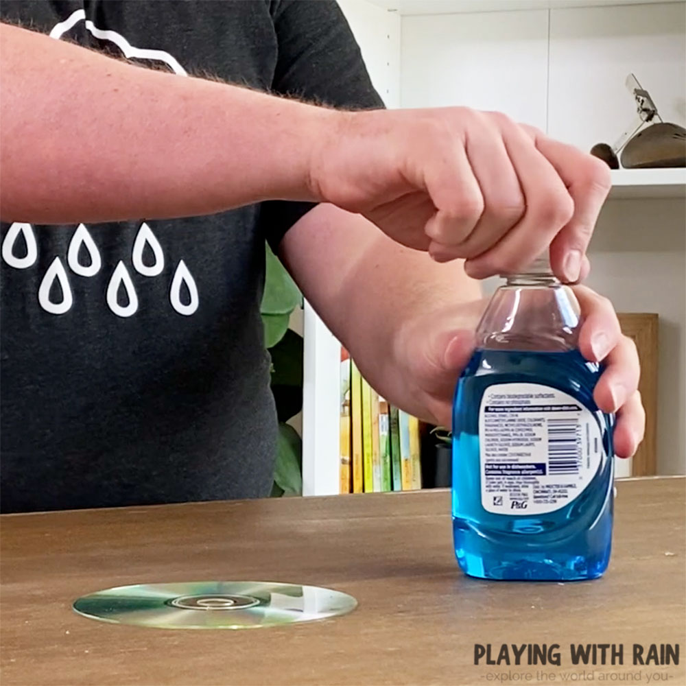 Remove the lid from the soap bottle