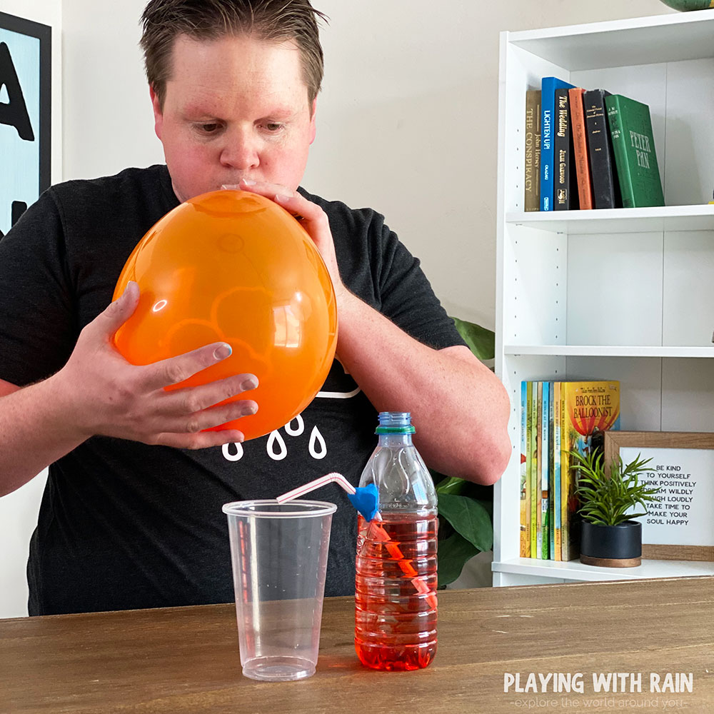 Inflate a large balloon