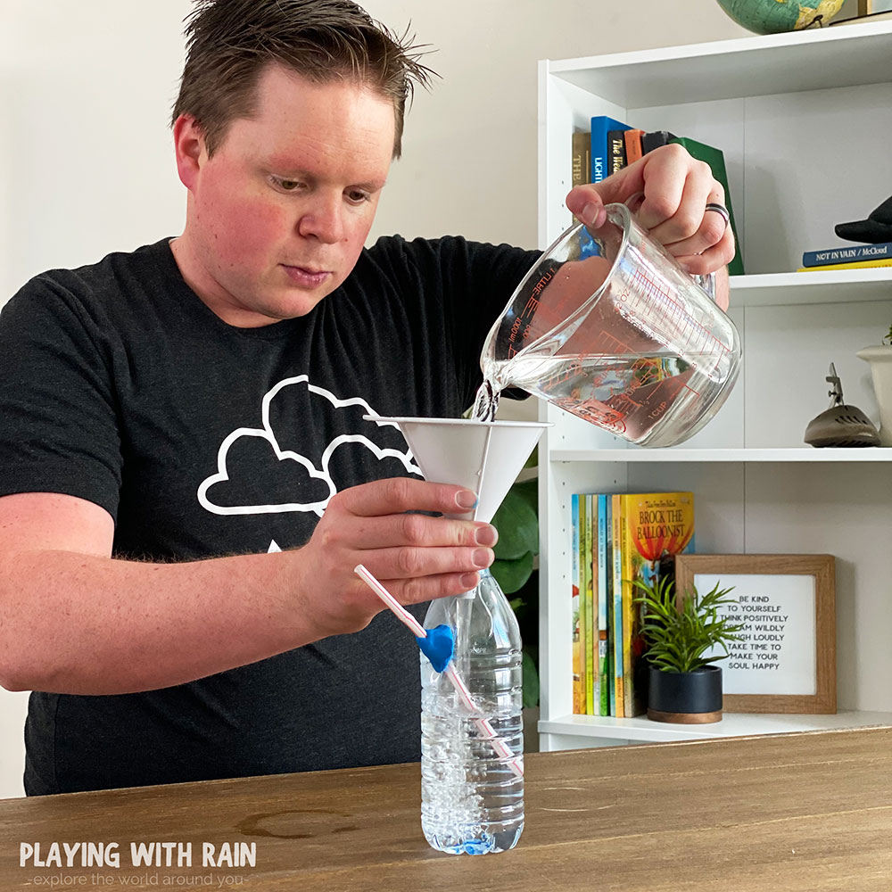 Pour water or your favorite drink into bottle