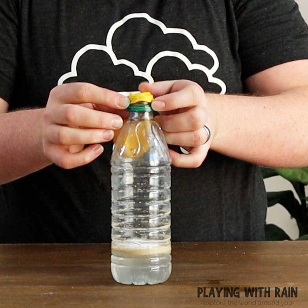 Connect the balloon to the bottle
