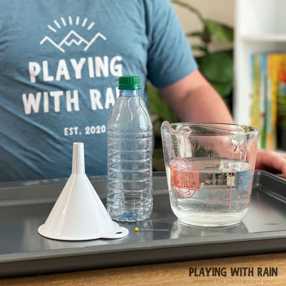 Leaking water bottle experiment materials