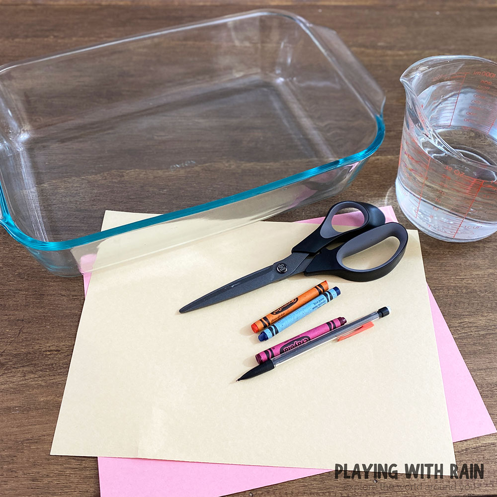 Supplies needed to make paper flowers