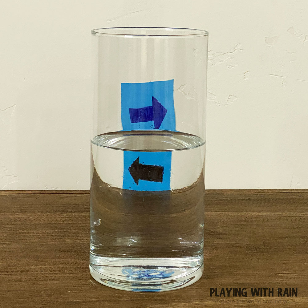 Light refraction in water trick