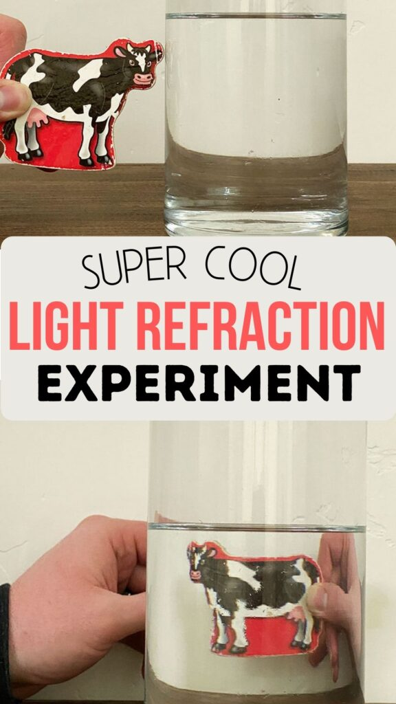 Light refraction in water experiment