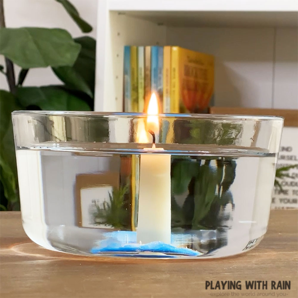 Make a candle burn underwater