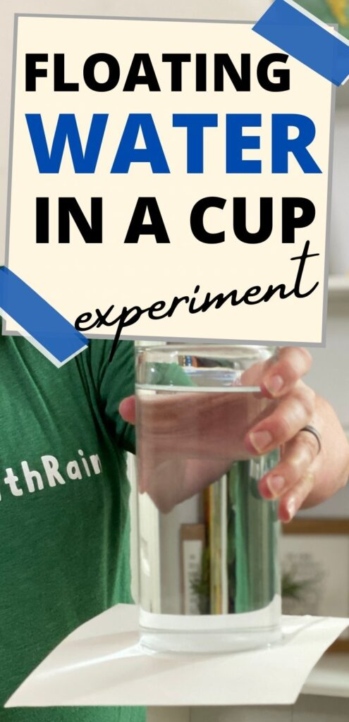 Upside down glass of water experiment