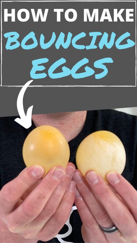 Turn raw eggs into rubberized bouncy eggs