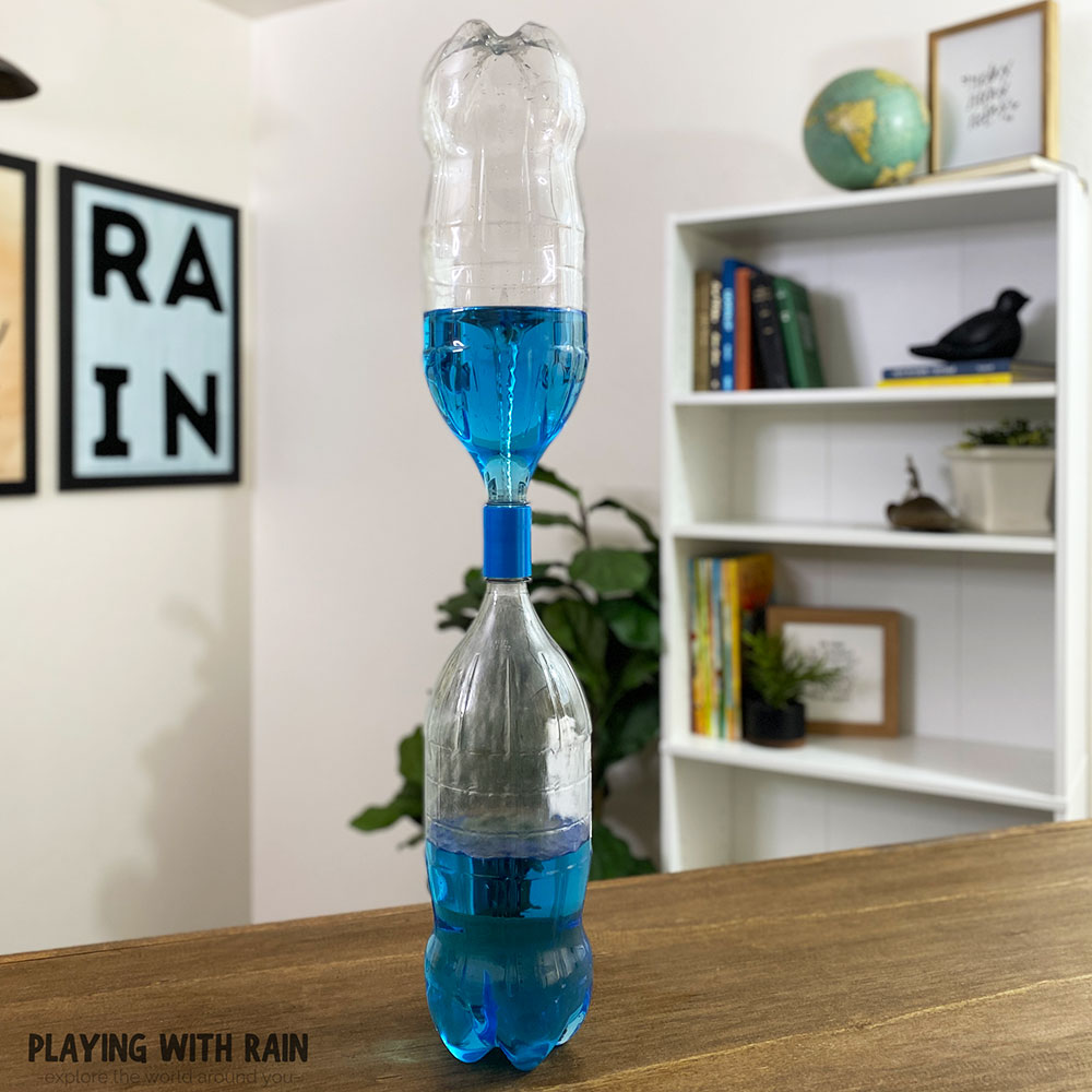 Funnel cloud in a bottle experiment
