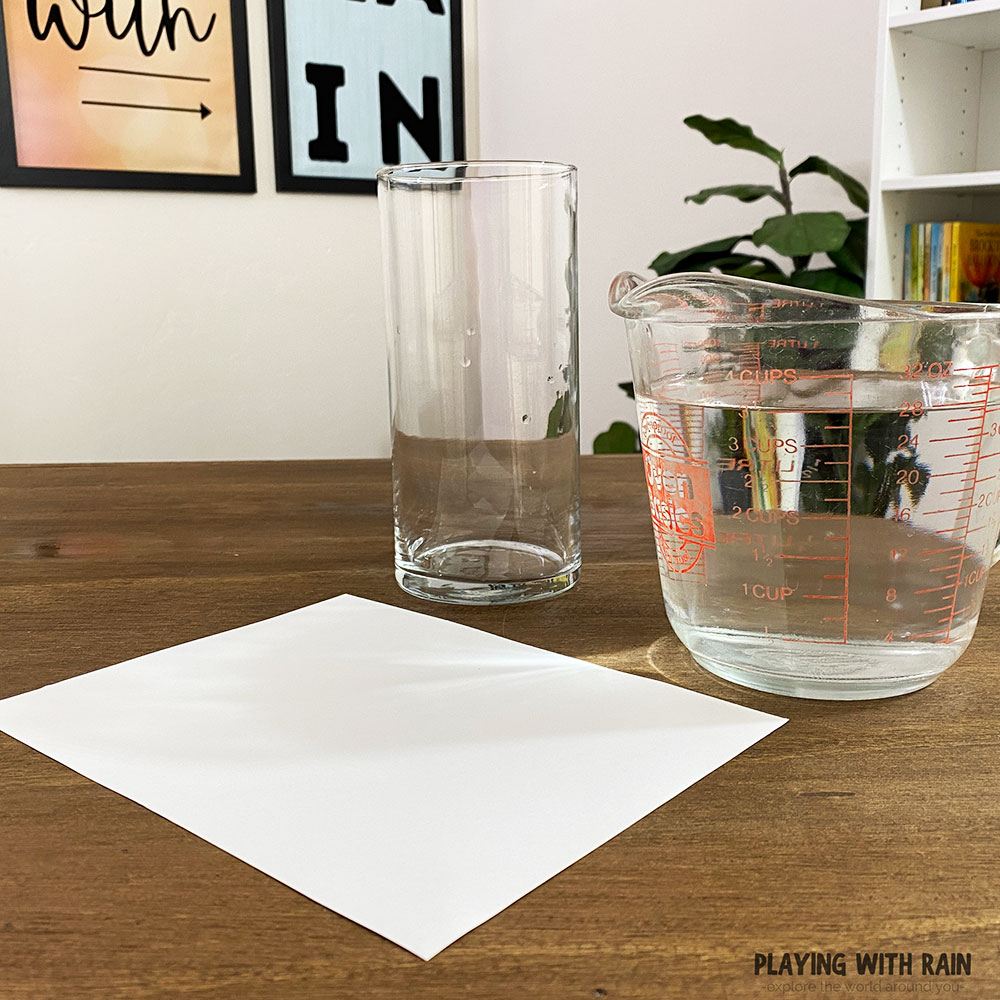 All you need is paper, water, and a cup