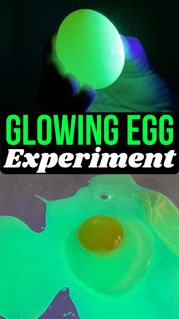 Glowing egg experiment