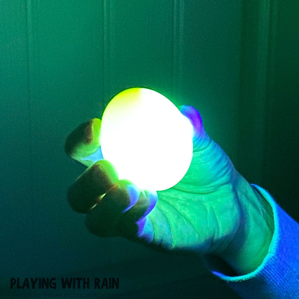 Make eggs glow in the dark