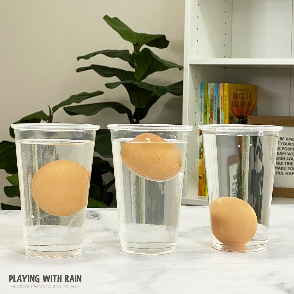 How to make an egg float