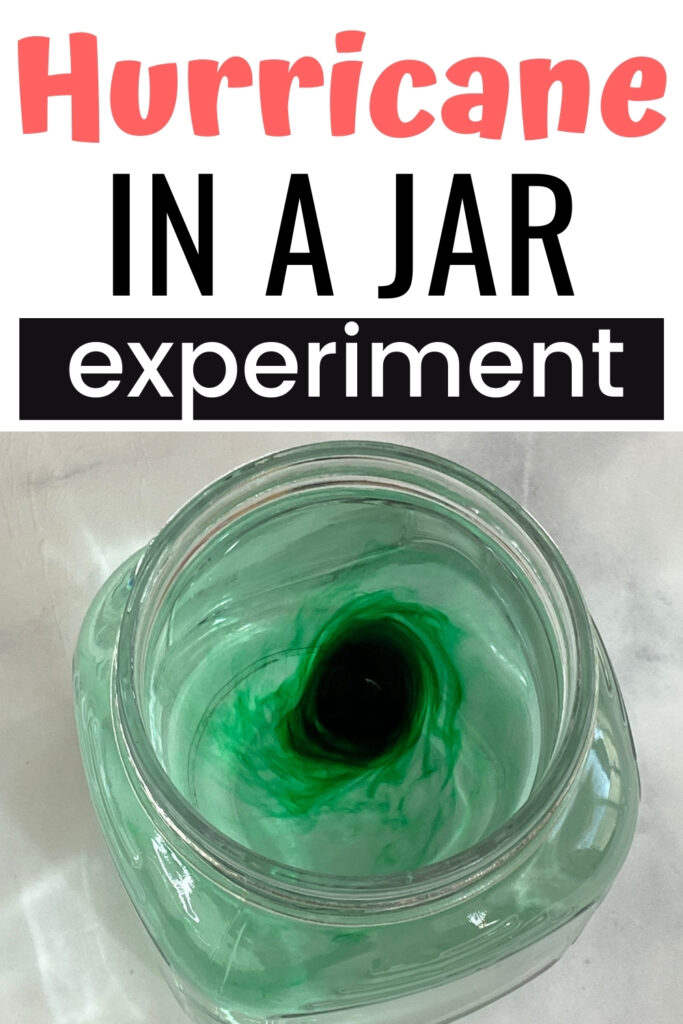 How to make a hurricane with water and food coloring