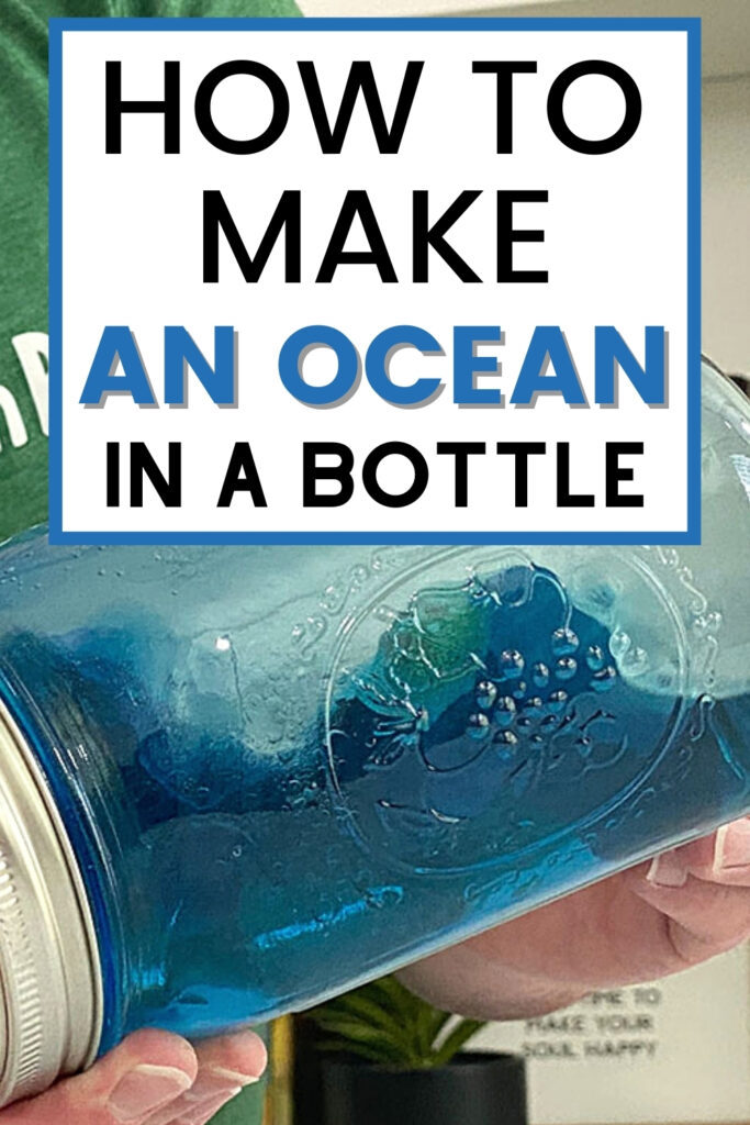 How to make an ocean in a bottle experiment